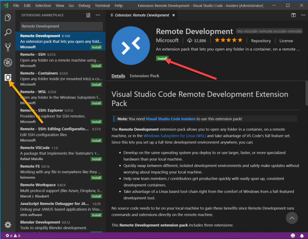Develop go with VSCode new Remote Containers Feature