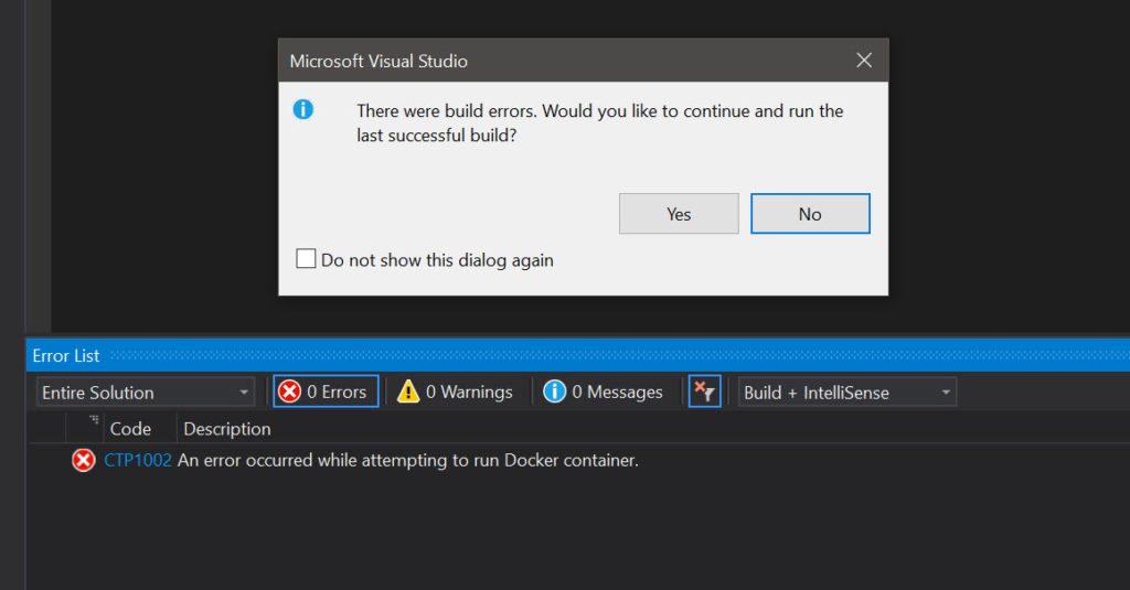 Enable drive sharing for Docker on Windows for Linux Containers